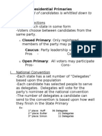 Primaries Notes