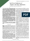 Peak Power Reduction of OFDM Signals