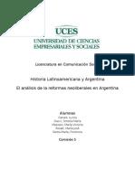 Reformas neoliberales en Argentina