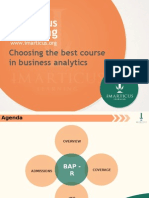 Choosing the Best Course in Business Analytics