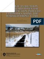 Geologic Evaluation and Hazard Potential of Liquefaction-Induced Landslides Along the Wasatch Front