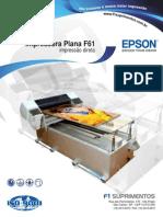 Impressora Plana f61