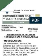 Comunicación Oral y Escrita Humana