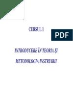Teoria si metodologia instruirii