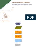 Algoritmos Y lenguajes De Programación Diagramas De Flujo