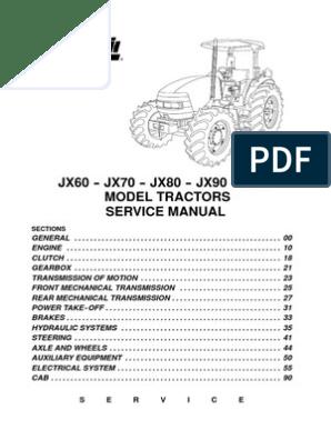 JX+Service+Manual | Transmission (Mechanics) | Manual