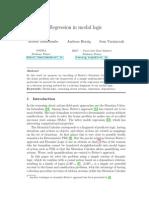 Regression in Modal Logic