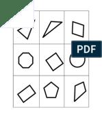 Lotería Geométrica Tarjetas (Adelante)