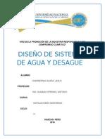 INFORME INSTALACIONES SANITARIAS TRABAJO UNJFSC 2014-II