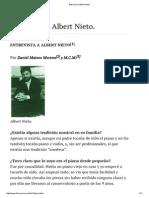 Entrevista a Albert Nieto
