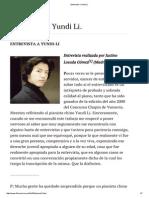 Entrevista a Yundi Li