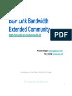 Bgp Bandwidth Community