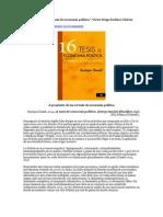 A Propósito de Las 16 Tesis de Economía Política
