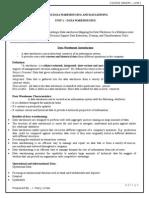 Unit 1 Data warehousing and mining