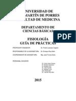 Guía - Fisiología Humana Práctica 2015-I