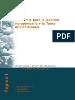 Economía para la Gestión Agropecuaria y la Toma de Decisiones