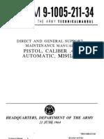tm-9-1005-211-34 M1911A1