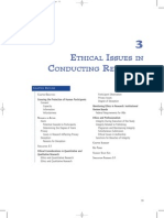 Ethics and Issues of Research