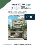 Mariano Acha 3072-Condominio en Venta