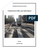 Chestnut St Bike Lane Study