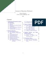 A Summary of Basic Quantum Mechanics