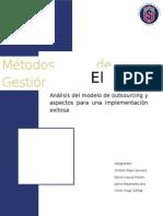 Análisis del modelo de outsourcing y aspectos para una implementación exitosa