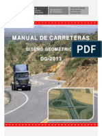 Indice de Diseño Geometrico de Carreteras (Dg-2013)