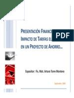 Proyecto de Ingenieria e impacto de tarifas eléctricas.