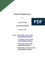 2011 National Walking Survey Results