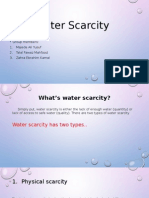 water shortage project