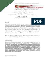 Engagement organisationnel et performance au travail dans la fonction publique béninoise