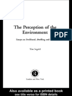 the perception of the environment essays on livelihood dwelling and skill