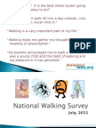 2011 National Walking Survey Presentation