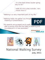 2011 National Walking Survey Presentation