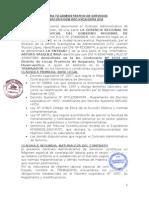 Contra to Administrativo de Servicios Arturo
