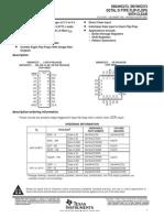 Texas Instruments - SN74HC273 - Octal D-Type Flip-Flops with reset