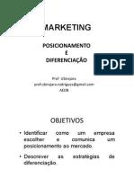 Mrkt Posicionamento Diferenciacao 2014