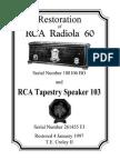 Restoration Notes from a Radiola 60