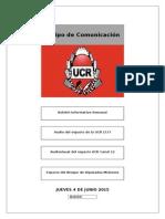 XVI Boletín Informativo Semanal UCR 2015 - Versión Online