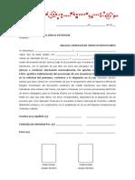 Carta de Compromiso de Continuar Efectuando Aportes Al Faov(Solicitado Por Foav