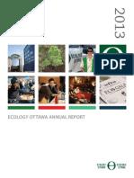 Ecology Ottawa 2013 Annual Report
