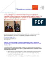 10-02-12 Jerry Brown's Spot Blindness for Corruption in Los Angeles County, California s