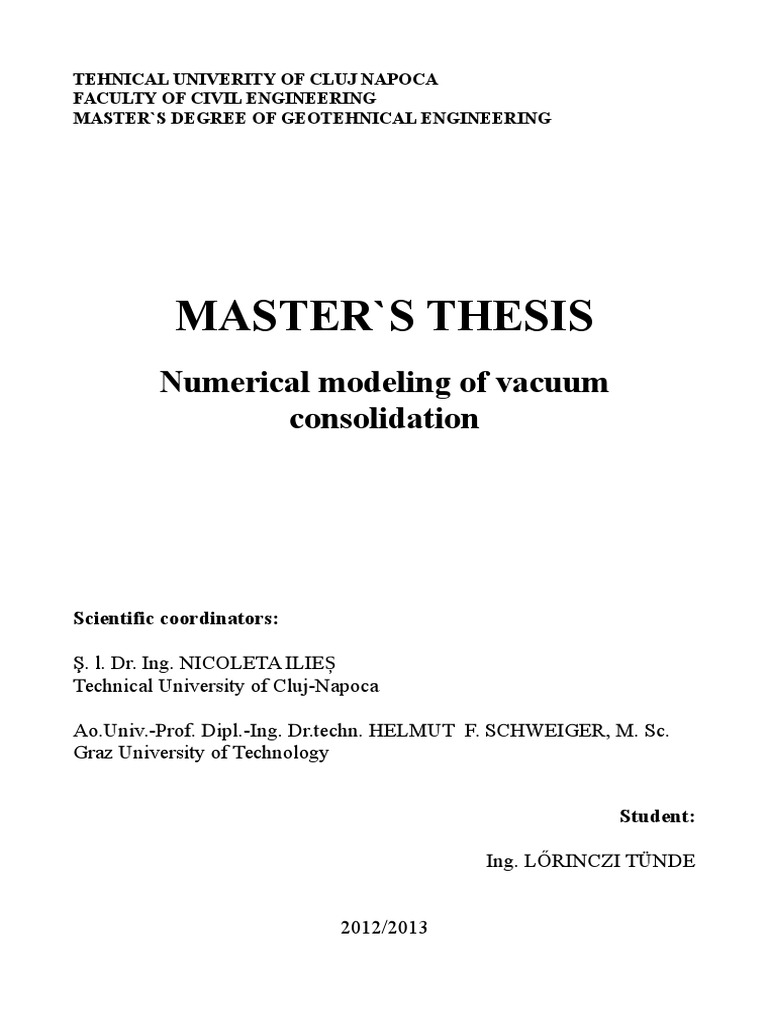Master thesis physics