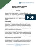 Convocatoria Ponencias Temáticas CIJU-UDG-UNESCO