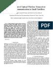 Development of Optical Wireless Transceiver