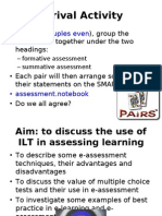 Use of ILT in Assessment