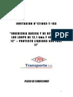 002 Pliego de Condiciones Inv 121003-T-163