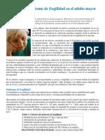 Fisiología del síndrome de fragilidad en el adulto mayor