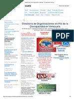 Organizaciones de Discapacidad en Venezuela - Discapacidad Venezuela