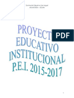 PEI 2014-2017, Institución Educativa San Miguel